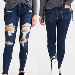 ❥ American Eagle Distressed Jeggings